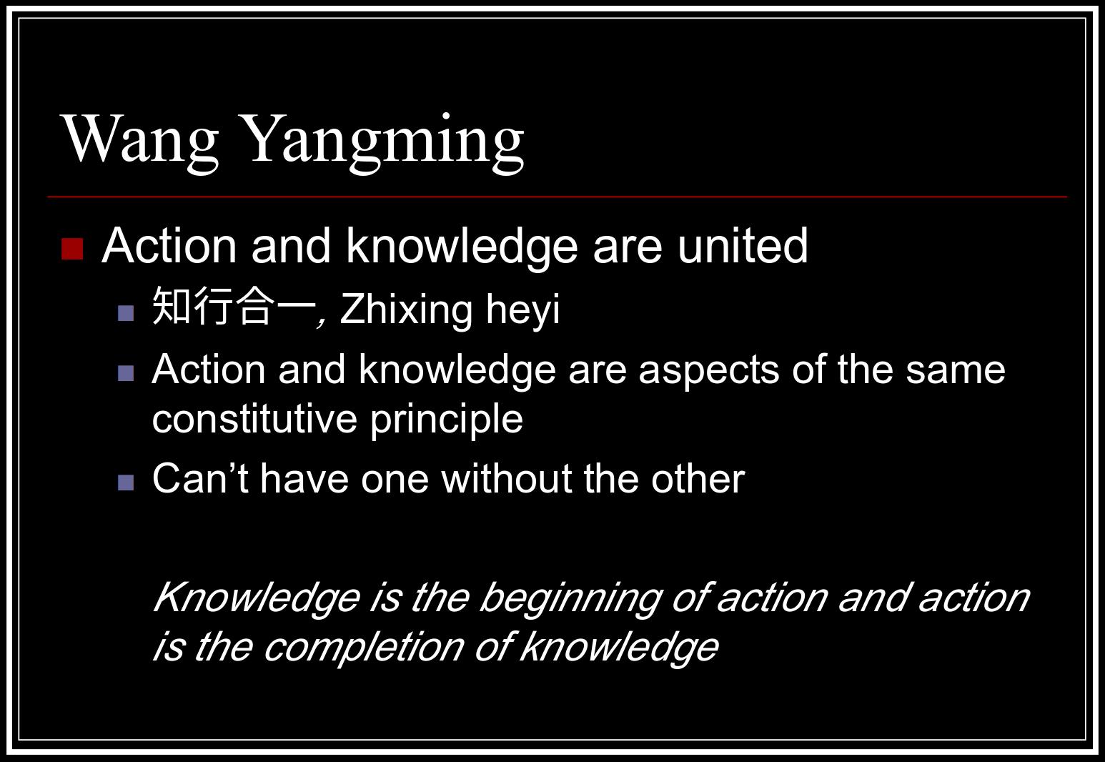 Wang Yangming